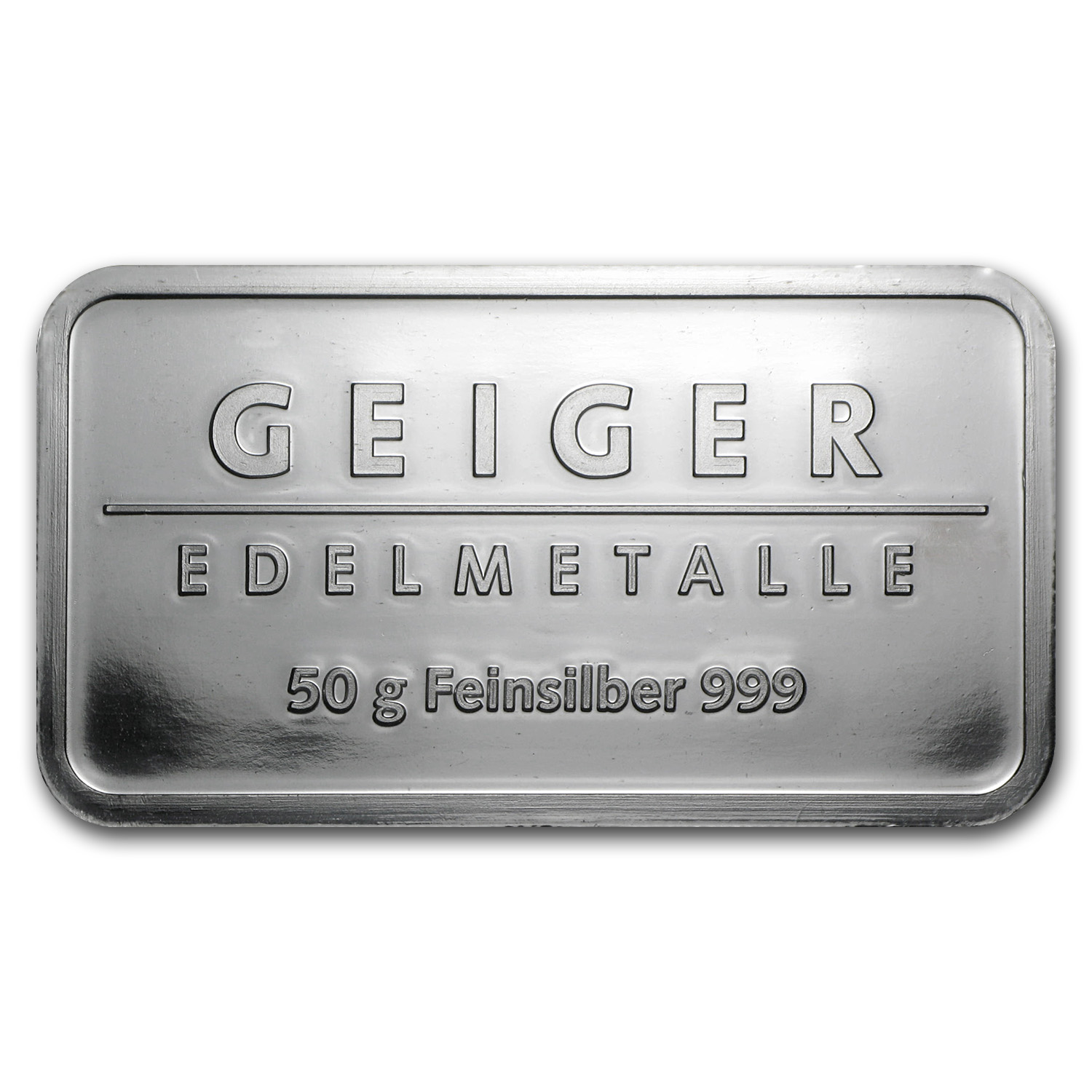 50 gram Silver Bar - Geiger (Security Line Series)